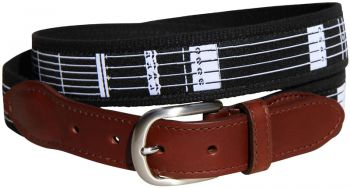 Guitar Frets Leather Tab Belt by Belted Cow