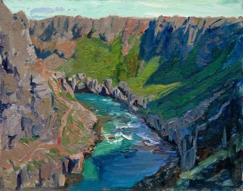 Haloransa River in Iceland oil painting by CD Clarke