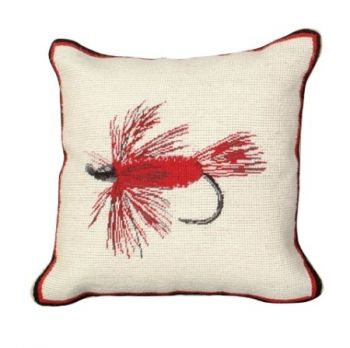 Hairy Wing Petit Point Needlepoint Pillow by Michaelian Home