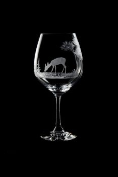 Vino Grande Wine Glass - Doe Design - Queen Lace Crystal
