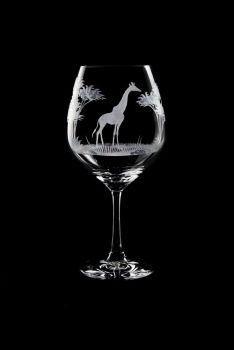 Vino Grande Wine Glass - Giraffe Design - Queen Lace Crystal