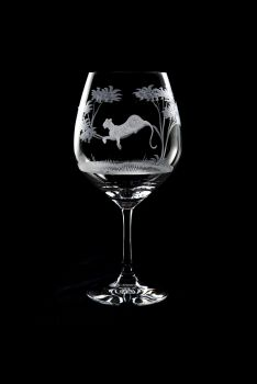 Vino Grande Wine Glass - Kudu Design - Queen Lace Crystal