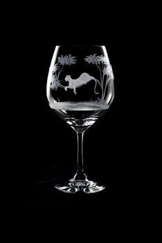 Vino Grande Wine Glass - Kudu Design - Queen Lace Crystal