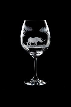 Vino Grande Wine Glass - Rhino Design - Queen Lace Crystal