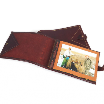 Handcrafted Leather Photo Album from Coyote Company Leather - Opened View