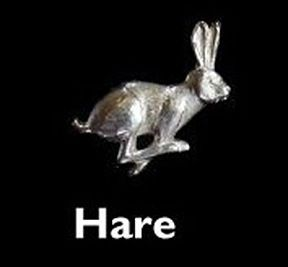 Hare Sterling Silver Cufflinks by Louis Lejeune