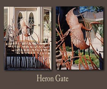 Heron Metal Gate by John Boyd Smith