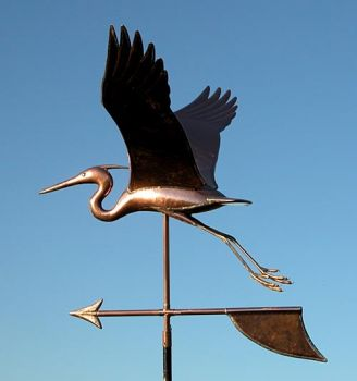 Heron Copper Weathervane by Barry Norling