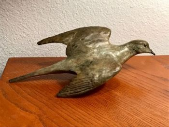 High Flyer is a Mourning Dove bronze sculpture by Liz Lewsi