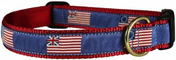 Historic American Flags one inch dog collar by Belted Cow