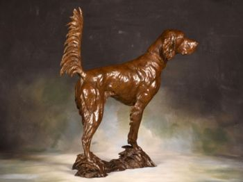 Honor - An English Setter Bronze Sculpture by Liz Lewis
