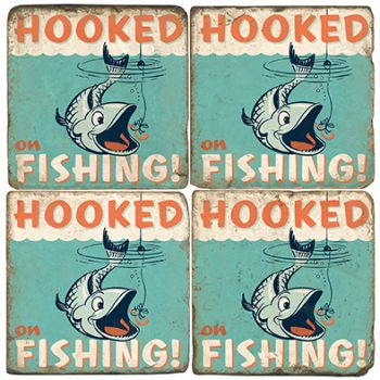 Hooked on Fish Italian Marble Coasters and Giftware