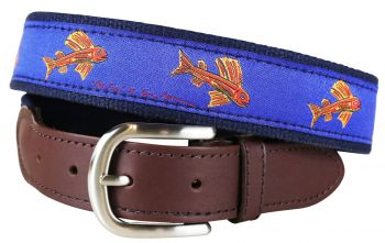 Hopkins Flying Fish Leather Tab Belt by Belted Cow