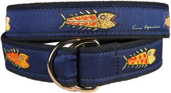 Hopkins Fish - Blue - D Ring Belt by Belted Cow