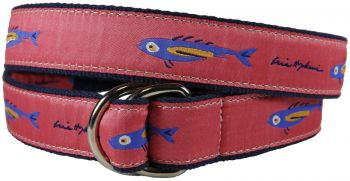 Hopkins Coral Fish D Ring Belt by Belted Cow