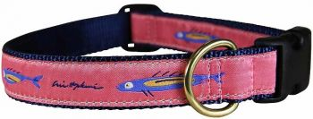Hopkins Coral Fish One inch dog collar by Belted Cow