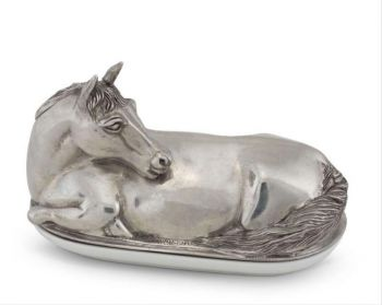 Pewter Horse Butter Dish by Vagabond House