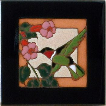 Hummingbird 2 Ceramic Tile - Maanum Custom Tiles
