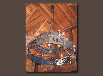 Hunting Lodge Metal Chandelier - John Boyd Smith
