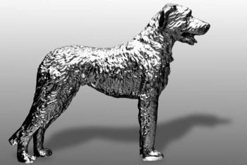 Irish Wolfhound Hood Ornament or Car Mascot by Louis Lejeune comes in chrome, bronze, enamel or gold plated