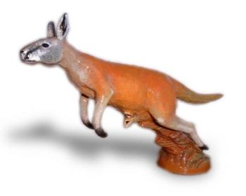 Kangaroo Hood Ornament or Car Mascot by Louis Lejeune comes in chrome, bronze, enamel or gold plated