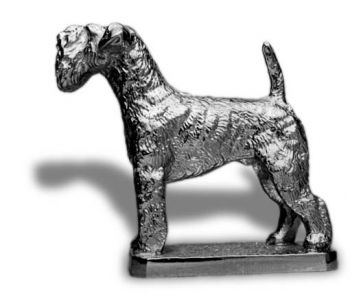 Kerry Blue Terrier Hood Ornament or Car Mascot by Louis Lejeune comes in chrome, bronze, enamel or gold plated