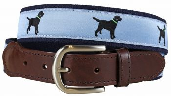 Black Lab Leather Tab Belt by Belted Cow