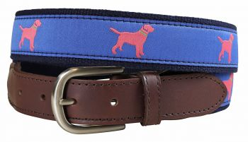 Labrador Retriever Leather Tab Belt by Belted Cow