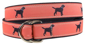 Labrador Retriever Nantucket colored D Ring Belt by Belted Cow