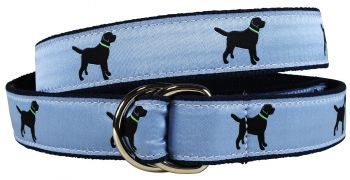 Labrador Retriever dusty blue colored D Ring Belt by Belted Cow