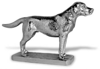 Labrador Retriever - Large - Hood Ornament or Car Mascot by Louis Lejeune comes in chrome, bronze, enamel or gold plated