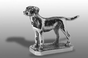Labrador Retriever - Medium - Hood Ornament or Car Mascot by Louis Lejeune comes in chrome, bronze, enamel or gold plated