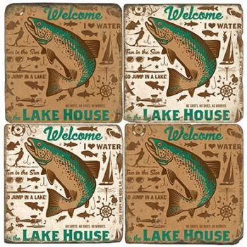 Lake House Italian Marble Coaster by Studio Vertu