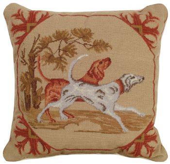 Lancaster Dogs Petit Point Pillow - Michaelian Home