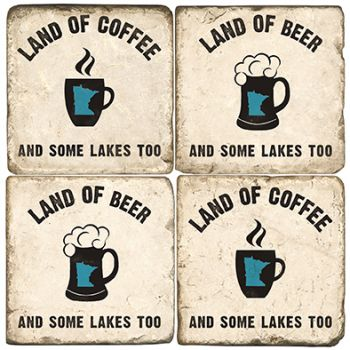 Land of Lakes Italian Marble Coasters and Giftware