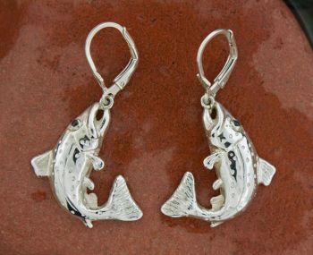Brook Trout - Large - Dangle Earrings