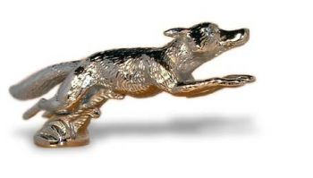 Fox Running - Large - Hood Ornament or Car Mascot by Louis Lejeune comes in chrome, bronze, enamel or gold plated