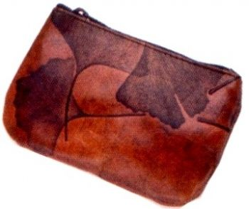 Leaf Leather Coin Purse by CL Whiting