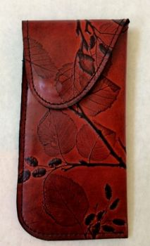 Leaf Leather Eyeglass Case