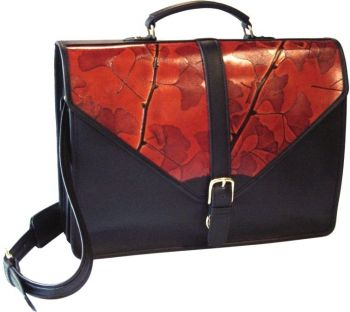 Leaf Leather Flap Briefcase by CL Whiting