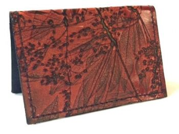 Leaf Leather Folded Card Case by CL Whiting