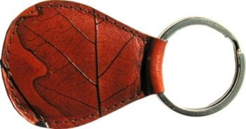 Leaf Leather Key Fob