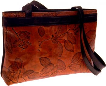Leaf Leather Large Tote