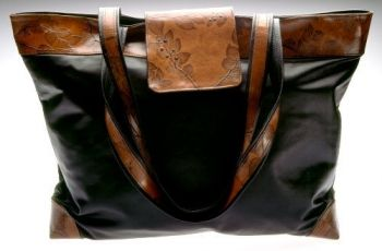 Leaf Leather World Traveler Bag - Brown Leather