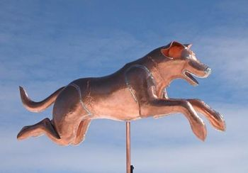 Leaping Lab Copper Weathervane from Barry Norlling