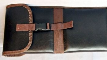 Leather Padded Shotgun Sleeve - Close up View