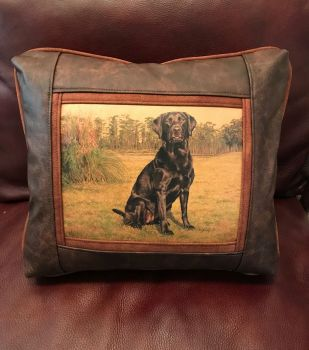 Lena - Leather Frame Pillow