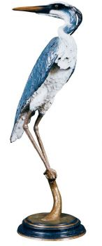 Reflections is a limited edition life sized bronze sculpture and fountain of a Great Blue Heron by Christopher Smith