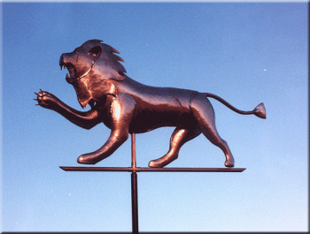 Lion Copper Weathervane from Barry Norling