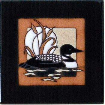 Loon 6 x 6 Ceramic Tile - Maanum Custom Tiles